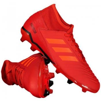 Chuteira Adidas Predator 19.3 FG Campo Juvenil Vermelha