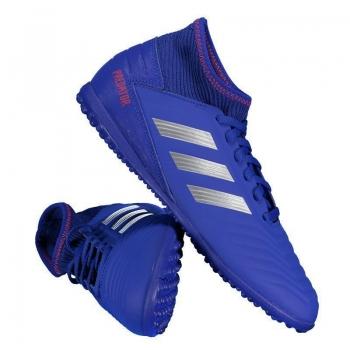 Chuteira Adidas Predator 19.3 TF Society Juvenil Azul