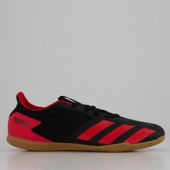 Chuteira Adidas Predator 20.4 IN Futsal Preta e Vermelha