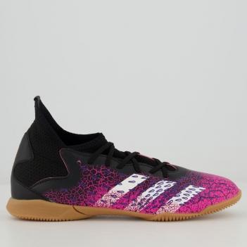 Chuteira Adidas Predator Freak 21.3 IN Futsal Juvenil Rosa