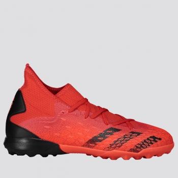 Chuteira Adidas Predator Freak 21.3 TF Society Vermelha