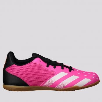 Chuteira Adidas Predator Freak 21.4 IN Futsal Rosa