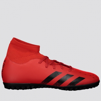 Chuteira Adidas Predator Freak 21.4 TF Society Vermelha