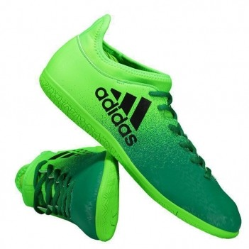 Chuteira Adidas X 16.3 IN Futsal Verde