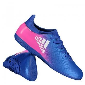 Chuteira Adidas X 16.3 IN Futsal Azul Juvenil