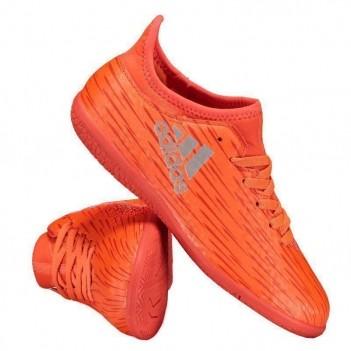 Chuteira Adidas X 16.3 IN Futsal Juvenil Laranja