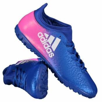 Chuteira Adidas X 16.3 TF Society Azul