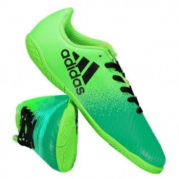 Chuteira Adidas X 16.4 IN Futsal Juvenil Verde