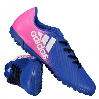 Chuteira Adidas X 16.4 TF Society Azul