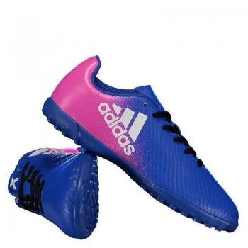 Chuteira Adidas X 16.4 TF Society Juvenil Azul