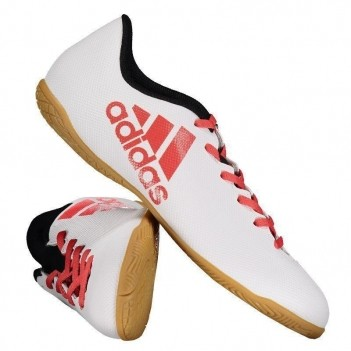Chuteira Adidas X 17.4 IN Futsal Branca e Preta