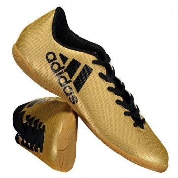 Chuteira Adidas X 17.4 IN Futsal Juvenil Dourada