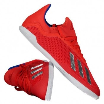 Chuteira Adidas X 18.3 IN Futsal Juvenil Vermelha