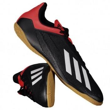 Chuteira Adidas X 18.4 IN Futsal Preta e Vermelha