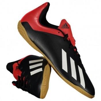 Chuteira Adidas X 18.4 IN Futsal Juvenil Preta