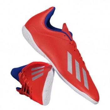 Chuteira Adidas X 18.4 IN Futsal Juvenil Vermelha
