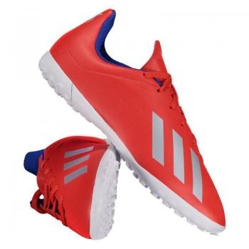 Chuteira Adidas X 18.4 TF Society Juvenil Vermelha
