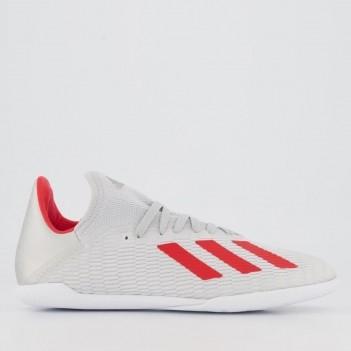 Chuteira Adidas X 19.3 IN Futsal Juvenil Prata