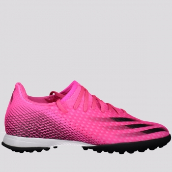 Chuteira Adidas X Ghosted 20.3 TF Society Rosa