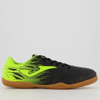 Chuteira Joma Lider Futsal Preta e Amarela