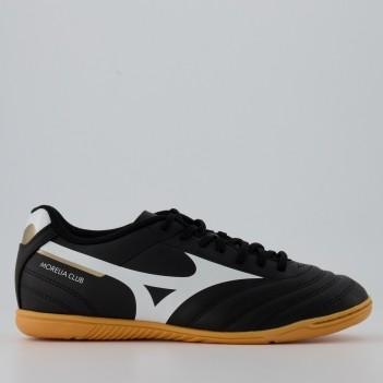 Chuteira Mizuno Morelia Club Futsal Preta e Branca