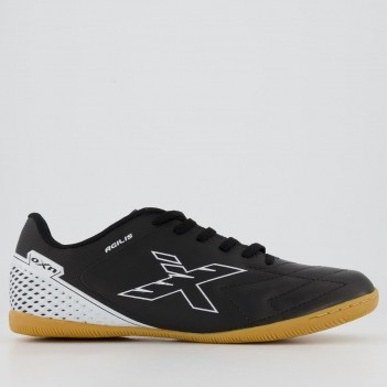 Chuteira Oxn Agilis Futsal Preta e Branca