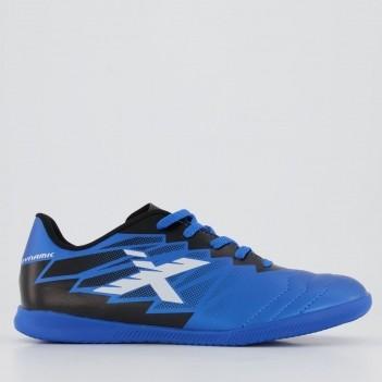Chuteira Oxn Dynamic Futsal Juvenil Azul e Preta