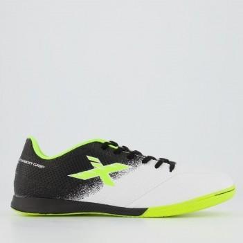Chuteira Oxn Fusion Grip 2 Futsal Branca e Preta