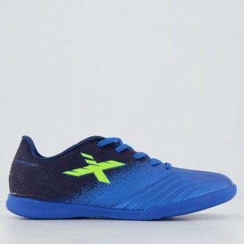 Chuteira Oxn Fusion Grip 2 Futsal Juvenil Azul Mar
