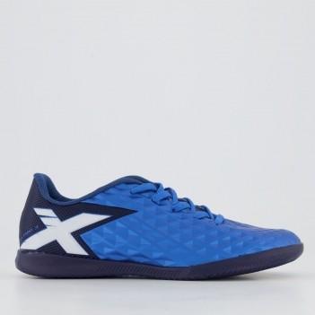 Chuteira Oxn Gênio 3 Futsal Juvenil Azul