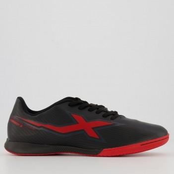 Chuteira Oxn Mission 3 Futsal Preta e Vermelha