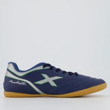 Chuteira Oxn Mundialli 2 Futsal Azul Marinho