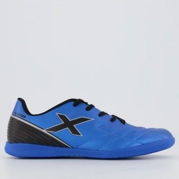 Chuteira Oxn Player 2 Futsal Juvenil Azul e Preta