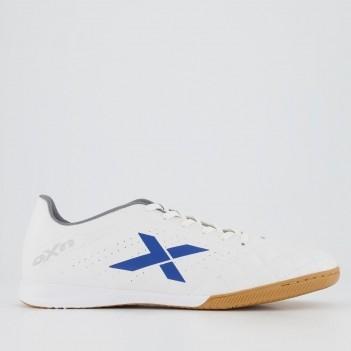 Chuteira Oxn Rio Futsal Branca e Azul
