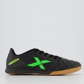 Chuteira Oxn Rio Futsal Preta e Verde