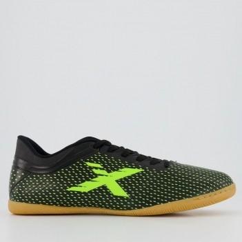 Chuteira Oxn Trainer Futsal Preta e Amarela