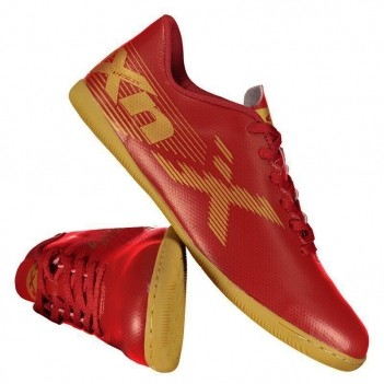 Chuteira Oxn Velox 2 Futsal Vermelha