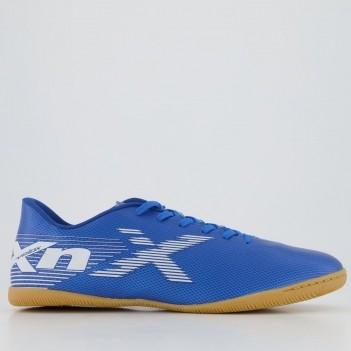 Chuteira Oxn Velox 2 Futsal Azul e Branca