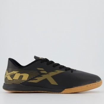 Chuteira Oxn Velox 2 Futsal Preta e Dourada
