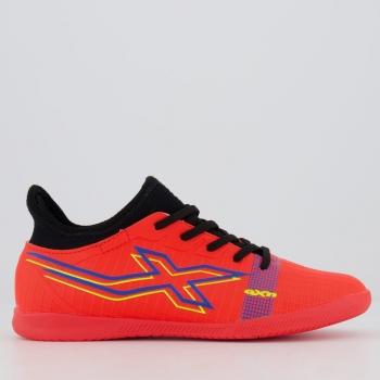 Chuteira Oxn Velox 4 Neo Futsal Juvenil Laranja