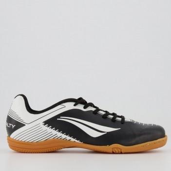 Chuteira Penalty Era VIII Futsal Juvenil Preta e Branca