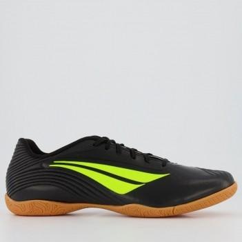 Chuteira Penalty F12 IX Futsal Preta e Amarela