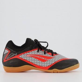 Chuteira Penalty F12 Locker IX Futsal Juvenil Preta