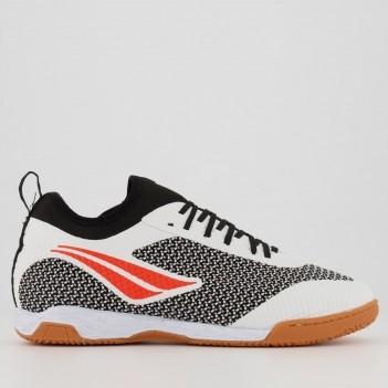 Chuteira Penalty Max 500 F12 Locker Futsal Branca e Preta