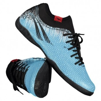 Chuteira Penalty S11 Locker IX Futsal Azul E Preto