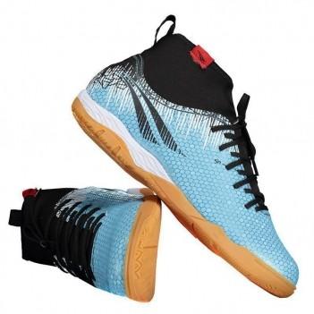 Chuteira Penalty S11 Locker Pro IX Futsal Azul e Preta