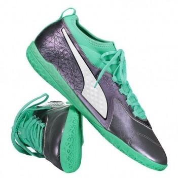 Chuteira Puma One 3 IL LTH IT Futsal Verde