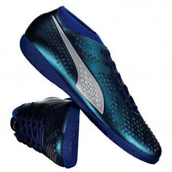 Chuteira Puma One 4 SYN IT Futsal Azul