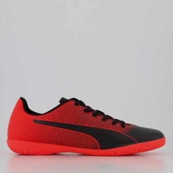 Chuteira Puma Spirit II IT BDP Futsal Preta e Vermelha