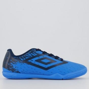 Chuteira Umbro Acid Futsal Juvenil Azul e Preta